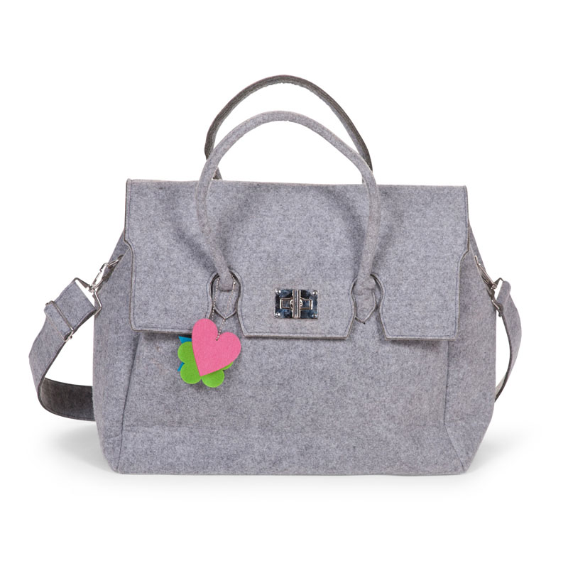 FELT NURSERY BAG GREY